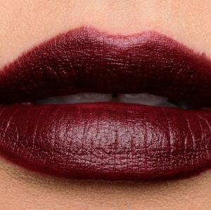 Mac velvet rebellion deep burgundy matte lipstick